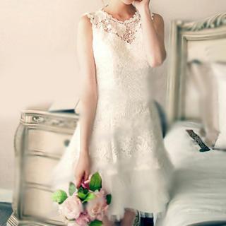 Angel Bridal - Lace Panel Party Dress