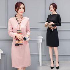 Sienne - Long Sleeve Sheath Dress