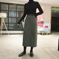 Eva Fashion - Plain Midi Skirt
