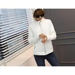 DANI LOVE - Knit-Sleeve Padded Jacket