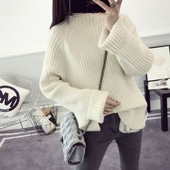 efolin - Ribbed Mock Neck Sweater