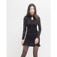 GUMZZI - Cutout-Front Laced Dress