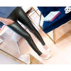 Marlangrouge - Metallic Fleece-Lined Leggings