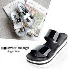 SWEET MANGO - Platform Patent Mules