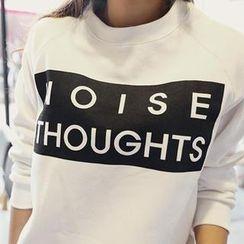 NANING9 - Brushed-Fleece Print Sweatshirt