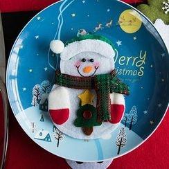 聚可愛 - 雪人聖誕餐具套