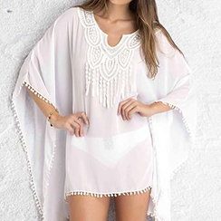 Sunset Hours - Chiffon Beach Cover-Up
