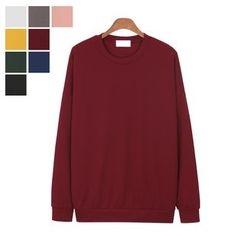 DANGOON - Drop-Shoulder Colored Sweatshirt