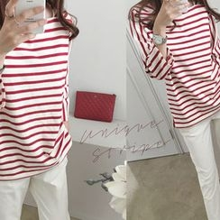 DAILY LOOK - 3/4-Sleeve Striped Top