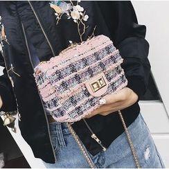 Aishang - Tweed Crossbody Bag