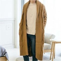 STYLEMAN - Cable-Knit Long Coat