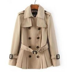 JVL - Double Breasted Belted Trench Jacket
