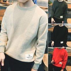 Hissse - Applique Fleece-Lined Sweatshirt
