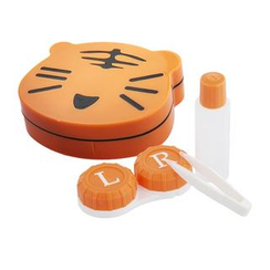 YesStyle Beauty - Smiley Tiger Lens Case Set (Orange)