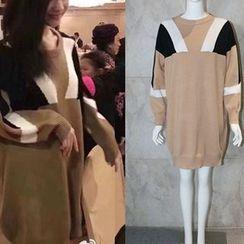 CACHA - Long-Sleeve Wool Blend Knit Dress