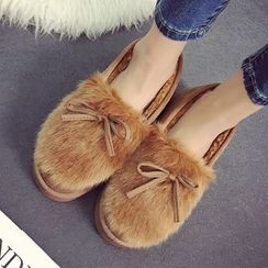 SouthBay Shoes - Furry Slip Ons