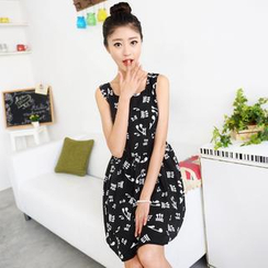 59 Seconds - Music Note A-Line Dress