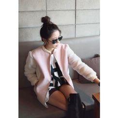 REDOPIN - Color-Block Fleece-Sleeve Jacket