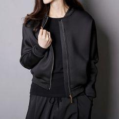 Sonne - 蝙蝠袖太空棉棒球外套