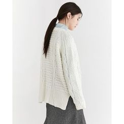 Someday, if - Loose-Fit Cable-Knit Sweater