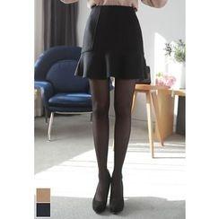 MyFiona - Wool Blend A-Line Mini Skirt