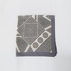 DABAGIRL - Geometric Pattern Light Square Scarf
