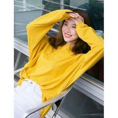 FROMBEGINNING - Long-Sleeve Stripe Sweatshirt