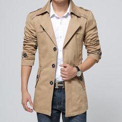 Alvicio - Detachable-Hood Trench Coat