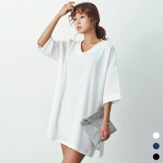 ANNINA - Drop-Shoulder V-Neck Tunic