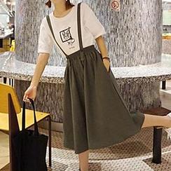 Cloud Nine - Plain Suspender Skirt
