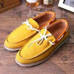 Armsal - Genuine-Leather Stitched Deck Shoes