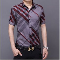 JIBOVILLE - Short-Sleeve Pattern Shirt