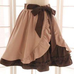 Reine - Ruffled A-Line Skirt