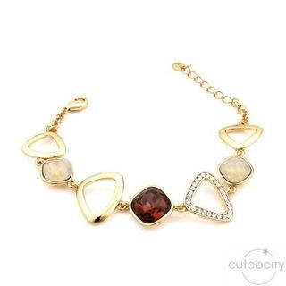 Cuteberry - Rhinestone Triangle Bracelet