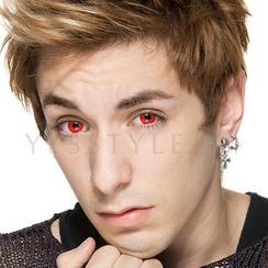 GEO - 炫彩隱形眼鏡 CP-F3 (紅) [只提供 P-0.00]