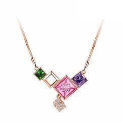 伊泰蓮娜 - 施華洛世奇元素水晶項鍊