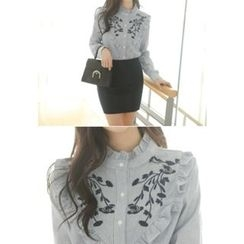 MyFiona - Frilled Embroidered Blouse