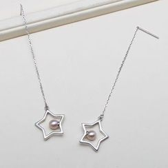 ViVi Pearl - Freshwater Pearl Star Earrings