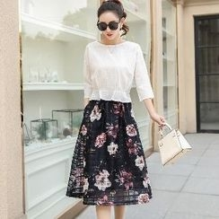 Romantica - Set: Top + Floral Skirt