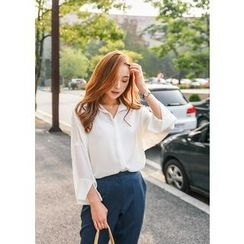 J-ANN - Drop-Shoulder Blouse