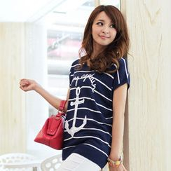 Tokyo Fashion - Sequined Striped Top