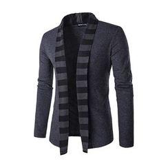 Fireon - 條紋邊開衫