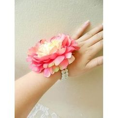 Trava - Flower Faux Pearl Bracelet