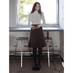 maybe-baby - Pattern Midi Skirt