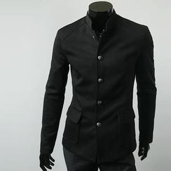 Free Shop - Mandarin-Collar Single-Breasted Jacket