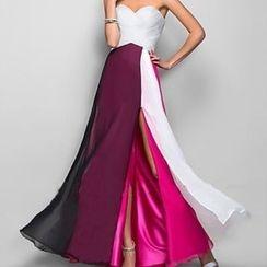 Katemi - Color-Block Ball Gown