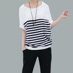 XGZ - Striped Batwing T-Shirt