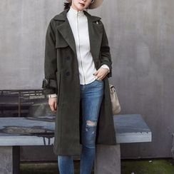 Shelby - Double-Breasted Long Coat