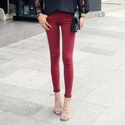 REDOPIN - Cotton Blend Skinny Pants