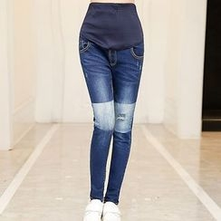 NEUF - Maternity Color Block Jeans